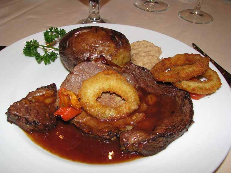 Tender Roasted Prime Rib of American Beef au jus, Carnival Splendor